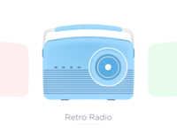 [Illustration] Retro Radio