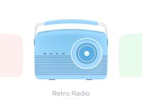 [Illustration - Style 01] Retro Radio