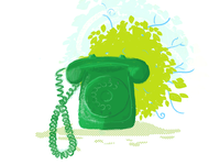 [Illustration - Style 02] Retro Telephone