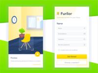 [Intro & SignUp Screen] Furniture App 03