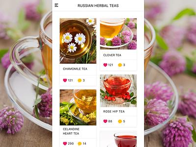 Tea Store Mobile App store design ui  ux store app ui design app ui ux shopping app mobile app app design ui app design android ios recepie shop app ui design mobile tea herbs herbal