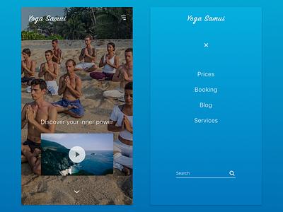 Yoga Center Mobile App mobile app design app mobile app yoga class yoga app app mobile app development app designer app design adaptive main menu ux ui design web website mobile retreat yoga
