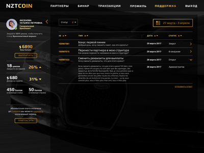 Dashboard tablet table design coinbase bitcoin services bitcoin wallet bitcoin exchange bitcoin profile page coin pay transactions binar tree money game profile dashboard design ux ui