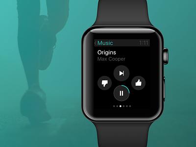 Music Player Apple Watch applewatch player ui music ui music player music app apple design watch design watch ui apple watch like pause play music player concept design watch apple ux ui