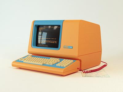 VT100 Limited Edition Terminal retro 3d terminal hipster vt100
