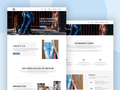 Corporate Website for LBM Fashions