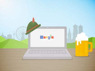 Laptop + Beer + Munich