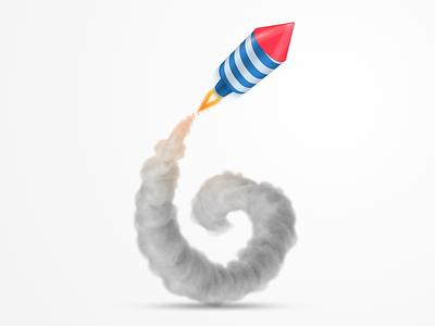 Rocket Illustration fire smoke after effects six 6 sketch rocket