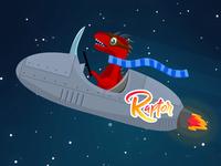 Firefox Raptor Sticker Design