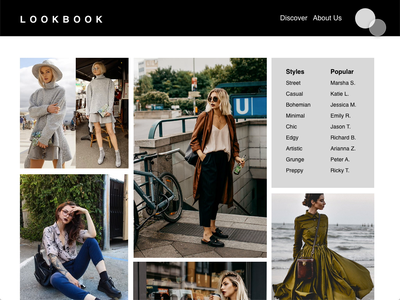 LookBook Redesign redesign ecommerce shopping wireframes prototype inspiration fashion clean design user interface interaction design ui minimal design ux