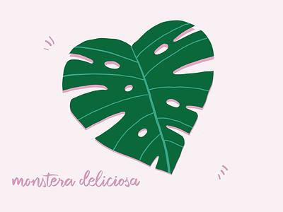 Monstera leaf illustrator beginnerillustrator vectorart vector fresco adobe lettering illustration design plants monstera leaf monstera plantlife plant digital art illustration