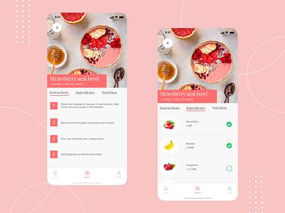 Cooking recipe mobile app illustration branding clean design iphone x ios app mobile design mobile ui mobile android ios app design user interface uiux interaction design ui minimal ux design