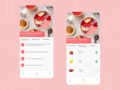 Cooking recipe mobile app