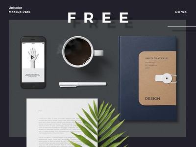 Unicolor Mockup Pack Free Demo unicolor stencil spray solid painted packaging objects free mockup clay branding