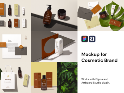 Cosmetic Brand Mockup For Figma