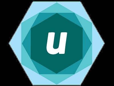 Logo for Utilizza - Design de Interação branding brand hexagons interaction design blue logo design logo
