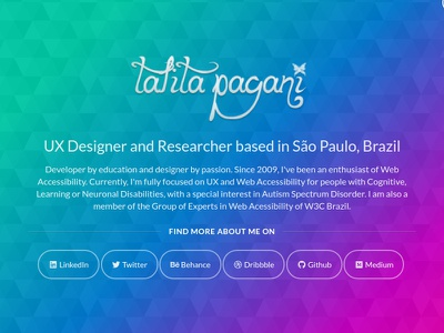 2018 version of my personal website polygon background texture pink purple blue teal unicorn gradient colorful layout personal website web design portfolio