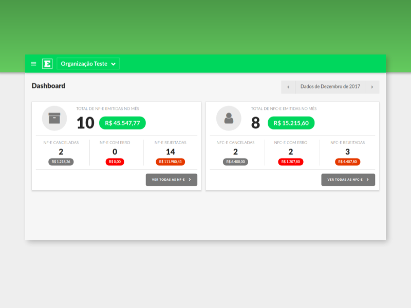 Dashboard accessibility fintech financial service invoice material green dashboard ui interface layout
