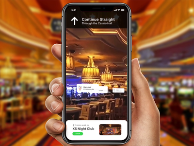 Casino Utilizing Apple ARKit, Beacons & Wayfinding