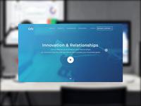 Marketing Landing Screen for PLCC Company