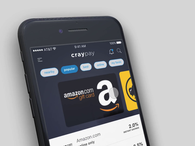 CrayPay iOS App - Purchase Gift Card