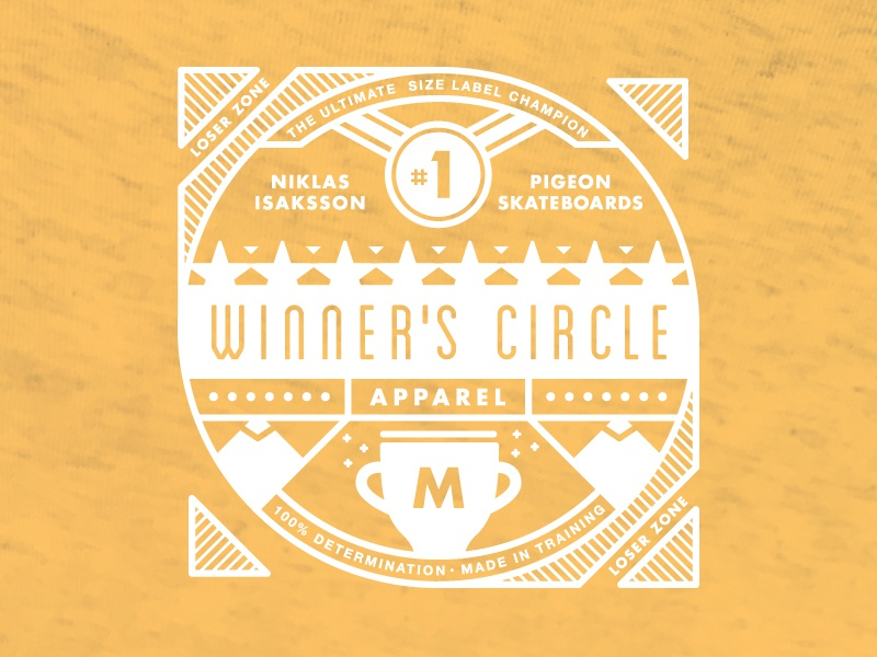 Size Label Playoff Winner victory label size apparel