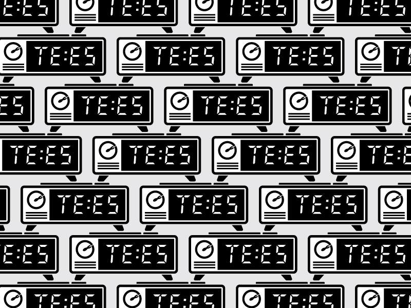 TE:ES pattern repeat tees clock digital