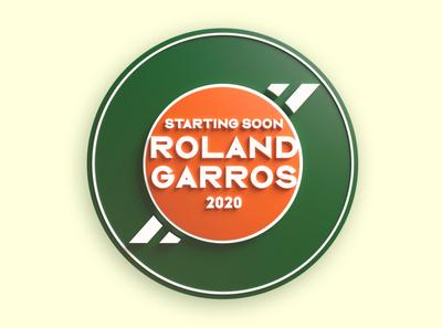 RG 2020 3d typogaphy 2020 roland garros