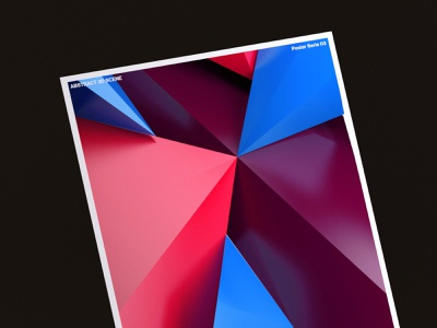 ABSTRACT FORMS POSTER 3 geometic redshift3d c4d poster forms abstract illustration typography