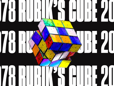 NFT TRAINING RUBISK'S CUBE redshift typography illustration rubiks cube c4d 3d