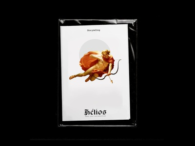 Helios concept book book branding illustration logotype teaser editorial grec layout edition typography