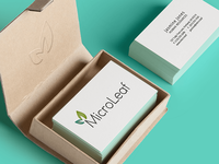 Microleaf Logo and Business Card