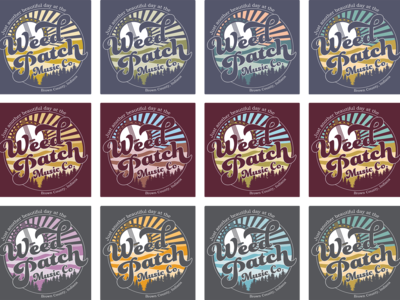 Weed Patch Music Co. Tee: Color Schemes