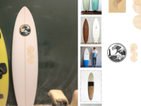 Mood Board : Oast Surf Craft logo exploration