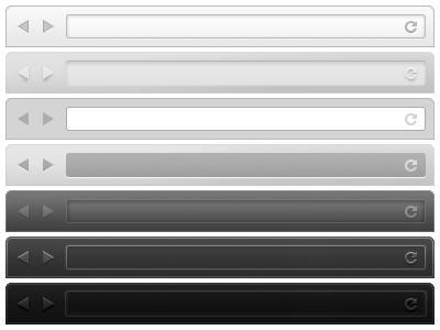 Browser UI Kit (PSD) bar resource interface freebie ux gui os ui psd photoshop comp tweak web client presentation design browser head uikit kit free download vector