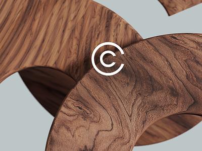 CUT OF WOOD. Branding zero letters workshop wood logo graphicdesign idenity branding coronarender motion illustration c4d 3d