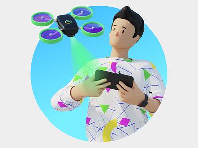 Sber Bank. Technology drone hr bank sberbank characterdesign character animation illustration motion c4d 3d