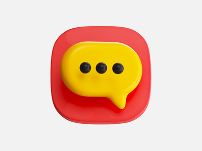 Chat chat icon illustration 3d