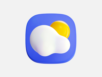 Weather app weather icon illustration 3d