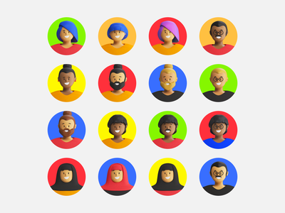 Aaply Characters app avatar person character motion c4d illustration 3d