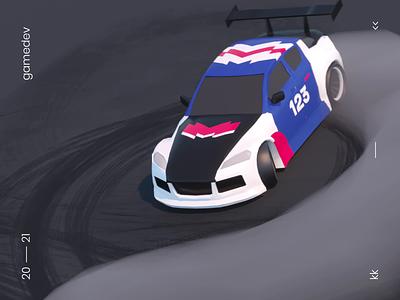 🏎️ Drift car race game gamedev drift animation c4d motion 3d