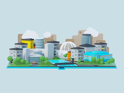 Yandex.Lavka city delivery food lavka yandex coronarender animation motion illustration c4d 3d