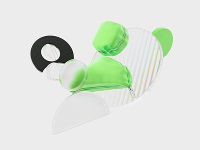 user pic 🕶️ glass userpic user zipper latex avatar ui coronarender illustration c4d 3d