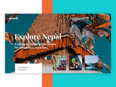 Landing Page UI - Travel Website nepal travellers app travel ui travel travel landing page landing page travel website