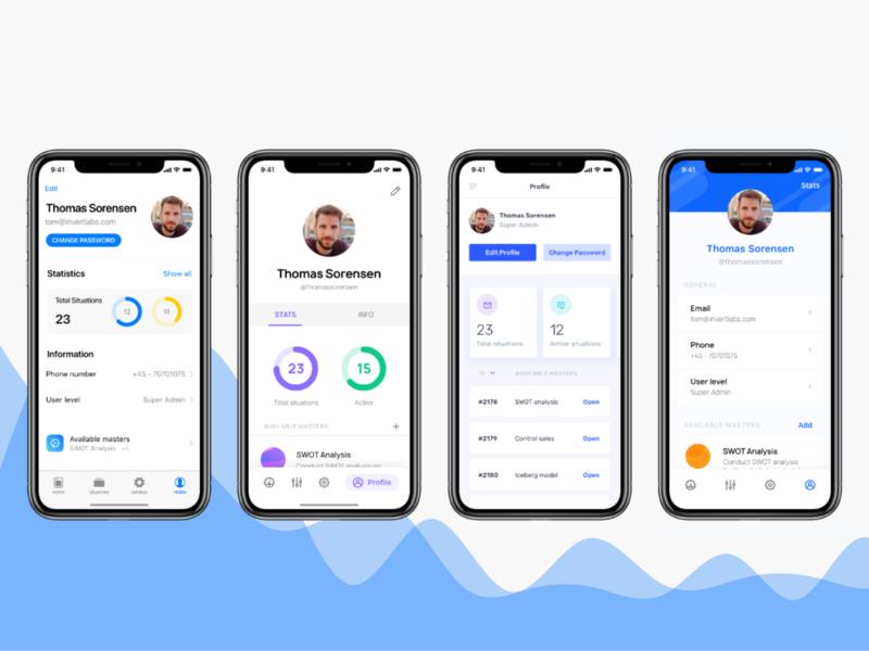 Mobile App UI - Profile Screen blue ios design ios ios ui mobile ui mobile app preferences settings profile screen profile