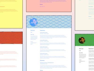 Resume templates minimal figma resume template