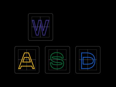 Operation WASD opposit keyboard minimal figma