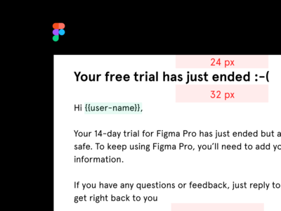 Red lines email figma