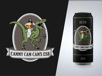 Jesus riding raptor Beer vintage ride jesus raptor drink logo label beer