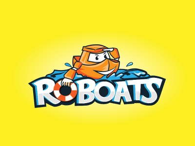 Roboats kids cartoon logo character boats robots
